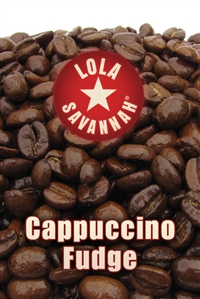 Cappucino Fudge flavored coffee, whole bean or ground, roasted fresh daily in Houston, Texas.