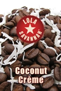 Coconut Crème flavored coffee, whole bean or ground, roasted fresh in Houston, Texas.