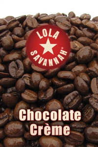 Chocolate Crème flavored coffee, whole bean or ground, roasted fresh in Houston, Texas.