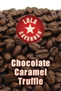 Chocolate Caramel Truffle flavored coffee, whole bean or ground, roasted fresh in Houston, Texas.
