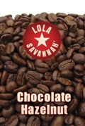 Chocolate Hazelnut flavored coffee, whole bean or ground, roasted fresh in Houston, Texas.