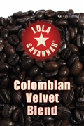 Colombian Velvet Blend coffee, whole bean or ground, roasted fresh in Houston, Texas.