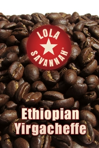 Ethiopian Yirgacheffe coffee, whole bean or ground, roasted fresh in Houston, Texas.