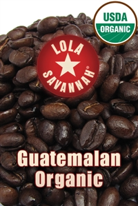 Guatemalan Organic coffee, whole bean or ground, roasted fresh in Houston, Texas.