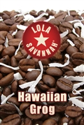 Hawaiian Grog flavored coffee, whole bean or ground, roasted fresh in Houston, Texas. You don't need to be Hawaiian or groggy to enjoy this special mix of 100% Arabica beans, real coconut flakes, Highland crème, and just a hint of coconut crème.