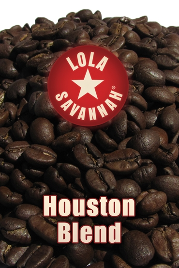 Houston Blend coffee, whole bean or ground, roasted fresh in Houston, Texas. A specialty regional mixture of the dark and aromatic flavors of Guatemalan blended equally with our finest smooth tasting Colombian.