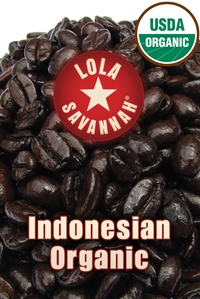 Indonesian Organic Fair Trade coffee, whole bean or ground, roasted fresh in Houston, Texas.