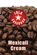 Mexicali Cream flavored coffee, whole bean or ground, roasted fresh in Houston, Texas.