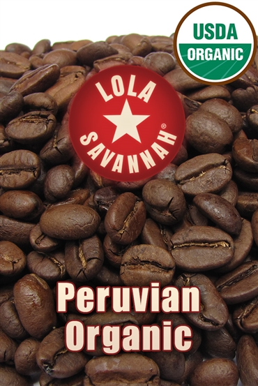 Peruvian Organic coffee, whole bean or ground, roasted fresh in Houston, Texas.
