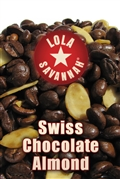 Swiss Chocolate Almond flavored coffee, whole bean or ground, roasted fresh in Houston, Texas.