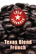 Texas Blend French coffee, whole bean or ground, roasted fresh in Houston, Texas.