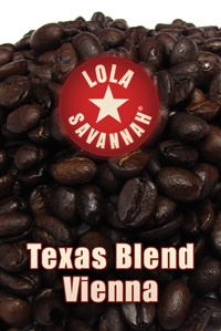 Texas Blend Vienna Roast coffee, whole bean or ground, roasted fresh in Houston, Texas.