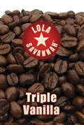 Triple Vanilla flavored coffee, whole bean or ground, roasted fresh in Houston, Texas.