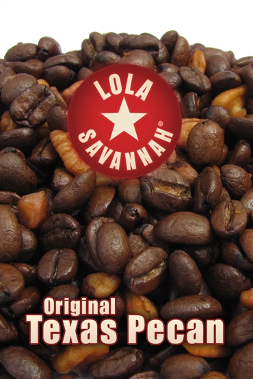 Texas Pecan flavored coffee, whole bean or ground, roasted fresh in Houston, Texas.