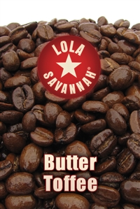 Butter Toffee flavored coffee
