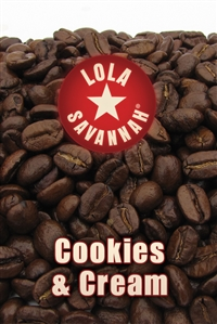 Cookies & Cream flavored coffee - whole bean or ground, fresh roasted in Houston, Texas.