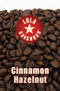 Cinnamon Hazelnut flavored coffee, whole bean or ground, roasted fresh in Houston, Texas.