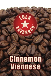 Cinnamon Viennese flavored coffee, whole bean or ground, roasted fresh in Houston, Texas.