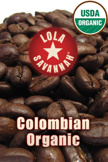 Colombian Organic coffee, whole bean or ground, roasted fresh in Houston, Texas.