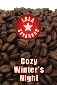 Cozy Winter's Night flavored coffee, whole bean or ground, roasted fresh in Houston, Texas.