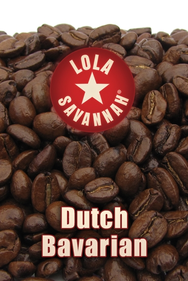 Lola Savannah's Dutch Bavarian flavored coffee, whole bean or ground, roasted fresh in Houston, Texas.