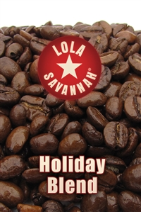 Holiday Blend flavored coffee, whole bean or ground, roasted fresh in Houston, Texas.