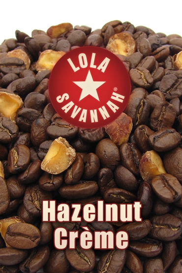 Hazelnut Crème flavored coffee, whole bean or ground, roasted fresh in Houston, Texas.