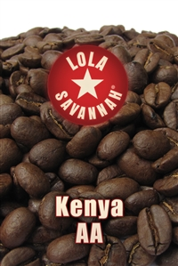 Kenya AA coffee, whole bean or ground, roasted fresh in Houston, Texas.