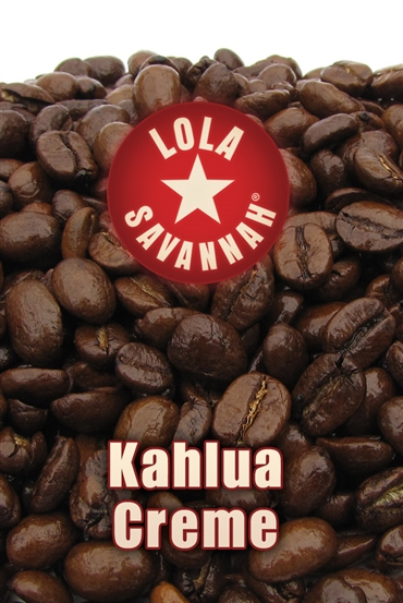 Kahlua Creme flavored coffee, whole bean or ground, roasted fresh in Houston, Texas.