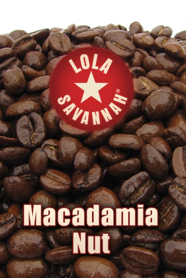 Macadamia Nut flavored coffee, whole bean or ground, roasted fresh in Houston, Texas.