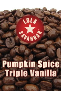 Pumpkin Spice flavored coffee, whole bean or ground, roasted fresh in Houston, Texas.