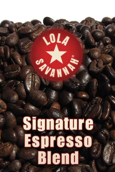 Signature Espresso Blend coffee, whole bean or ground, roasted fresh in Houston, Texas.