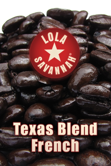 Texas Blend French Roast coffee, whole bean or ground, roasted fresh in Houston, Texas.