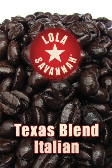 Texas Blend Italian Roast coffee, whole bean or ground, roasted fresh in Houston, Texas.
