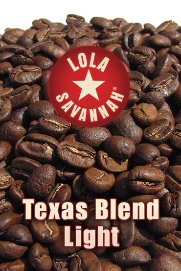 Texas Blend Light Roast coffee, whole bean or ground, roasted fresh in Houston, Texas.
