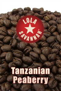 Tanzanian Peaberry coffee, whole bean or ground, roasted fresh in Houston, Texas.