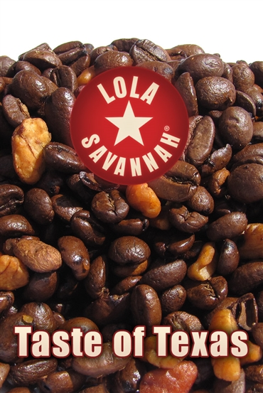 Taste of Texas flavored coffee, whole bean or ground, roasted fresh in Houston, Texas.