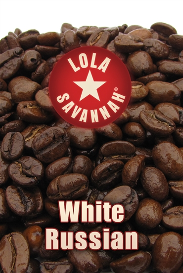 White Russian coffee, whole bean or ground, roasted fresh in Houston, Texas.